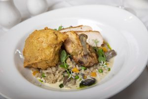 Pan-Roasted Supreme of Chicken Wild Mushroom, Butternut Squash & Sage Risotto 2