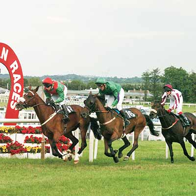 Kilbeggan 16-7-04. Passing the post. (HEALY RACING PHOTO)    D 7/04